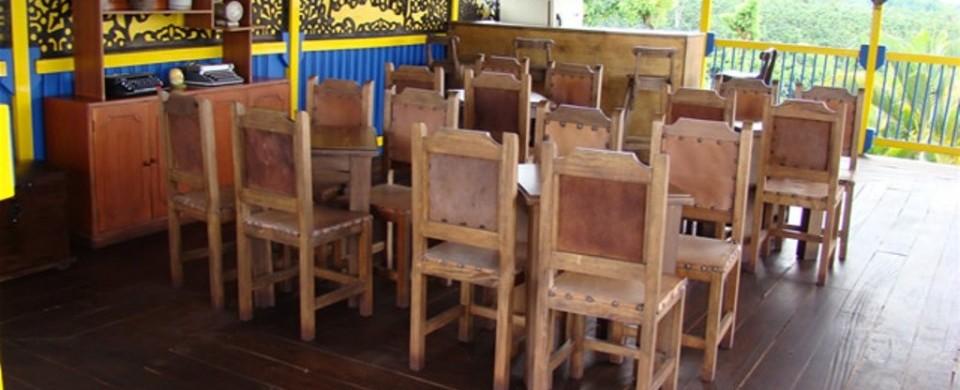 Interior del mirador de la finca. Fuente: fincavillajuliana.com